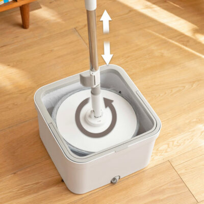 Spin & Clean Magic Mop With Bucket Cleaning Tools Spinning Mop Style Degree Sg Singapore