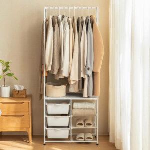 Grande Open Wardrobe Closet Clothes Lingerie Undergarment Storage Rack Drawer Style Degree SG Singapore